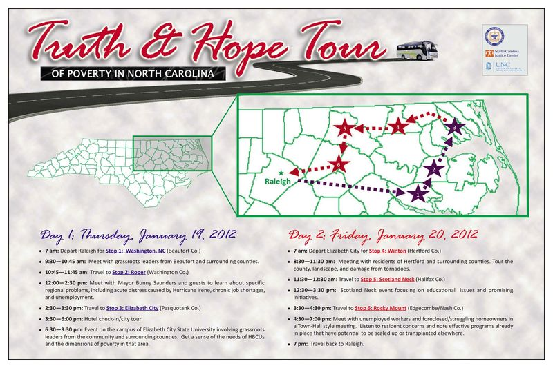 Truth and Hope, Putting a Face on Poverty Tour Map