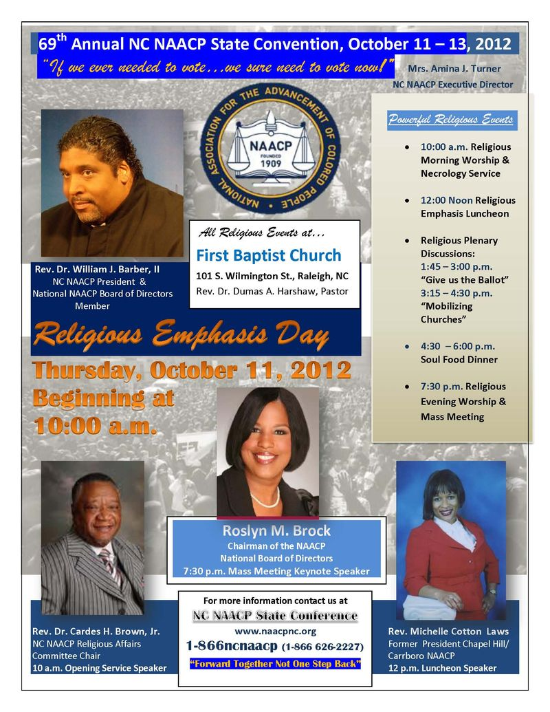 69th Religious Emphasis Day NC NAACP