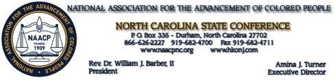 NC NAACP Letterhead
