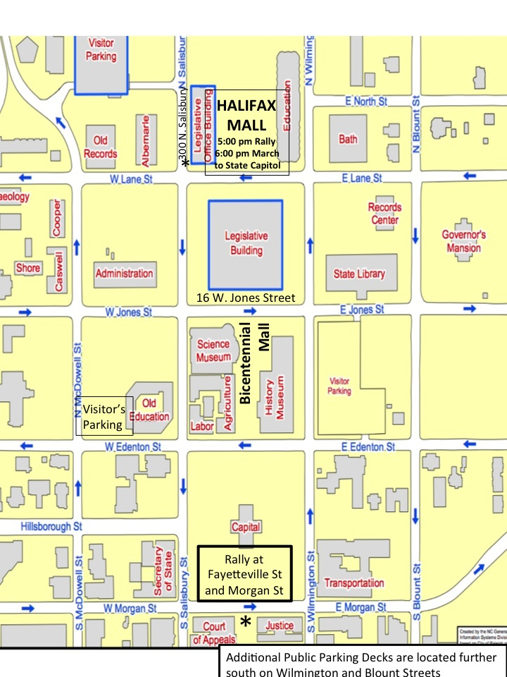 Map for Moral Monday March 13