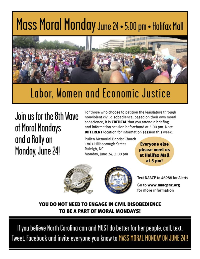 Moral Monday 8 Flyer