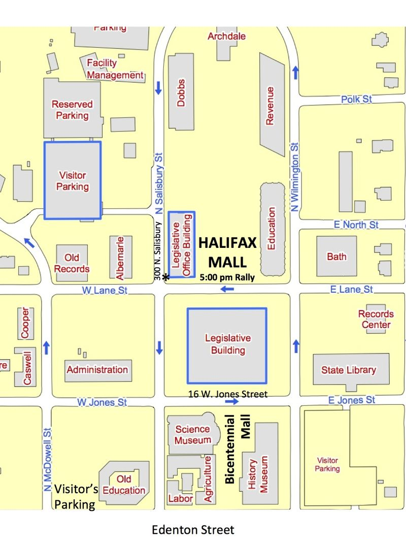Parking Map for General Assembly and Halifax Mall